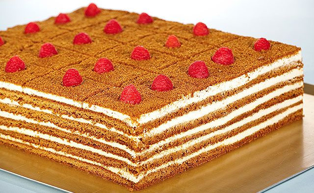 Russian Honey Cake… Irresistible. From L'eto cafe, London