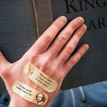 These insulting shakespeare theme bandages are hilarious trendhunter