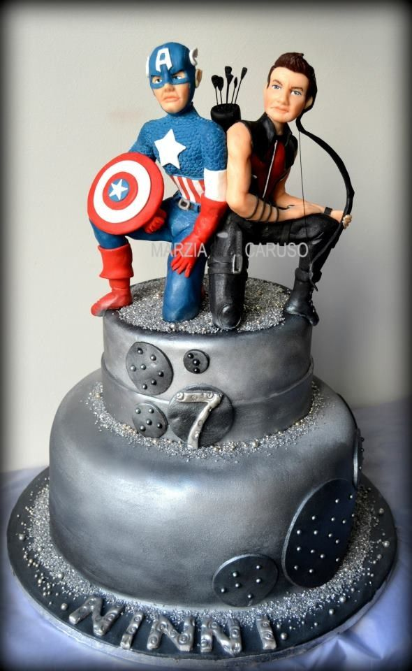 Captain America Cake Marvel Comic Book Cakes Pinterest