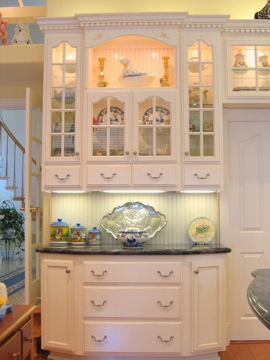 Beautiful built in china cabinet kitchen pinterest for Kitchen built in cabinets