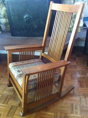 Great Stickley Mission Style Oak Rocking Chair Rocker Arts and Crafts