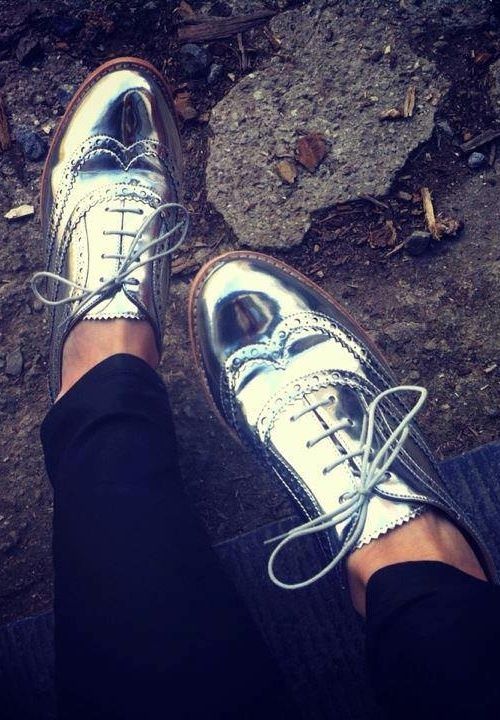 Sam Edelman Silver Metallic 'Jerome' oxford.