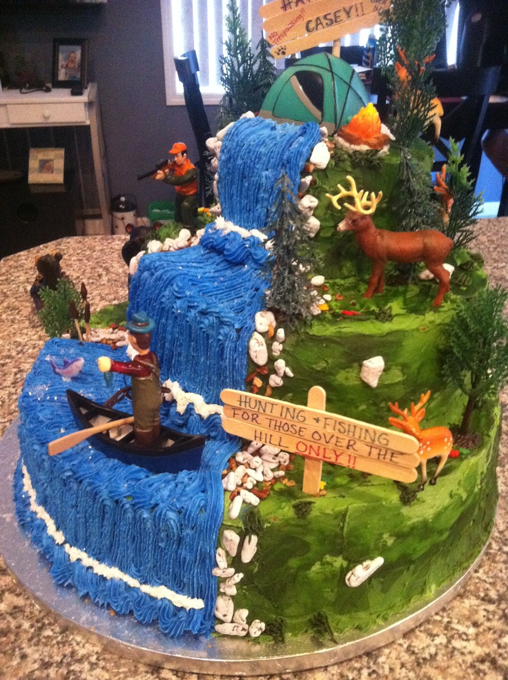 Hunting Fishing Cake Decorating Ideas Prezup for