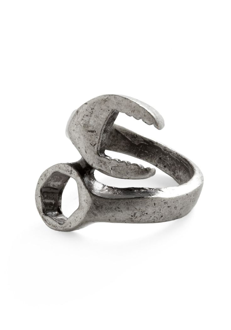 Torque Guide Ring - Silver, Solid, Casual