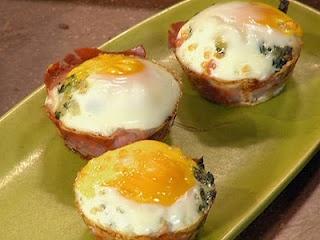 for shallots, spinach/kale, ham/prosciutto di Parma, eggs, heavy cream ...
