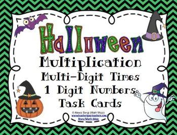 Halloween Multiplication (Multi-Digit Times 1 Digit Number