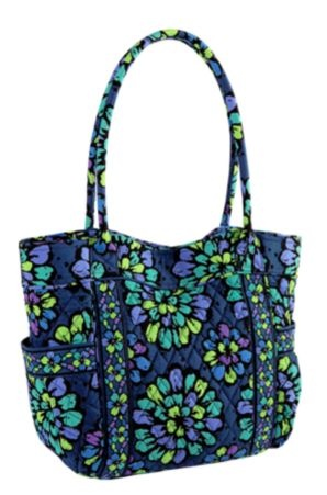 vera bradley 100 handbag in indigo pop campus