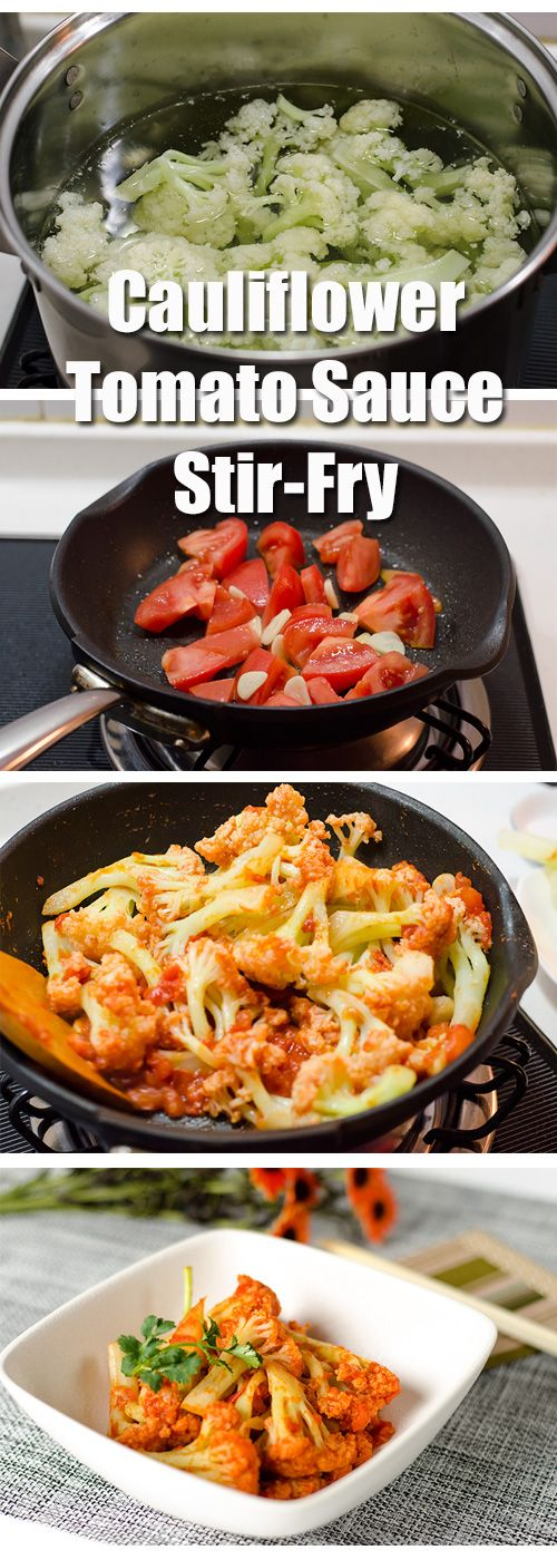 Stir-Fried Cauliflower with Tomato Sauce | http://omnivorescookbook ...