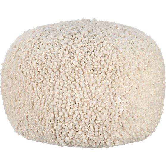 poodle pouf in poufs | CB2