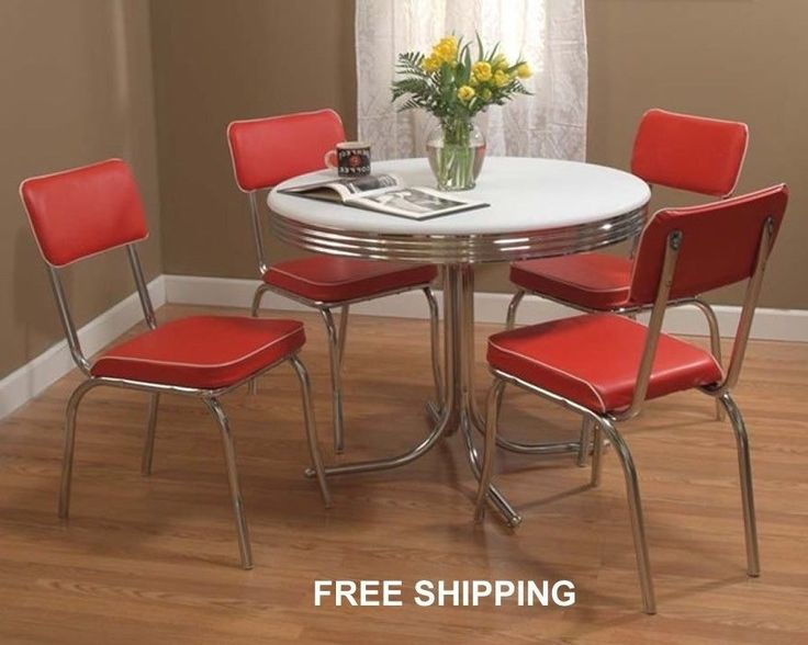 dining room set retro chrome chairs modern kitchen furniture dinette
