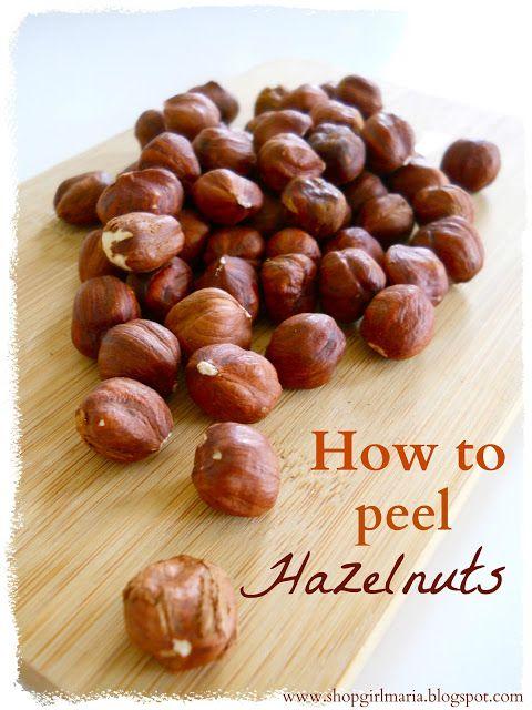 ... : Kitchen Tip: How to Peel Hazelnuts | Kitchen tips | Pinterest