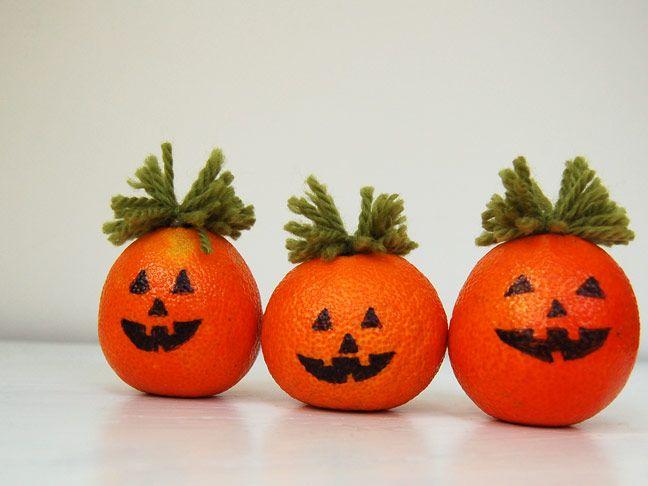 Orange DIY Halloween Craft: Pumpkin Orage Decor