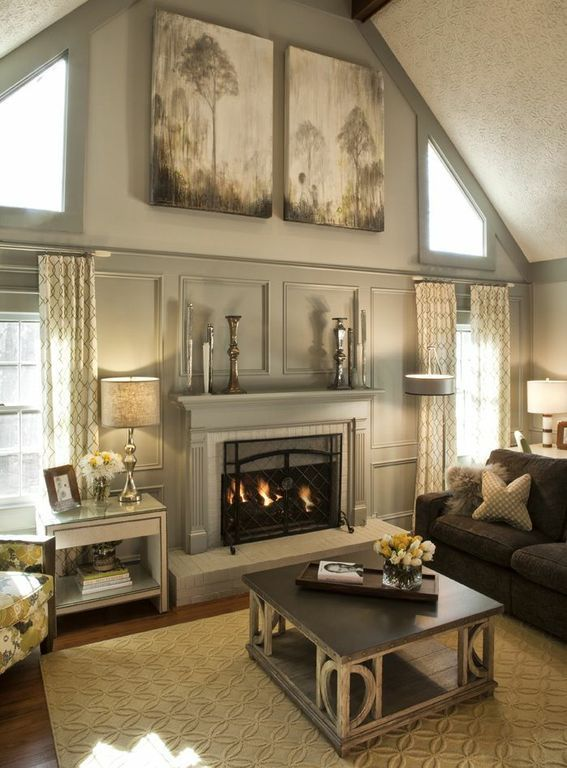 Painted Paneling And Fireplace Great Rooms Pinterest