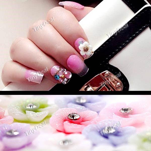 Flower style diy nail sticker fingernail tip decoration set 60pcs nail