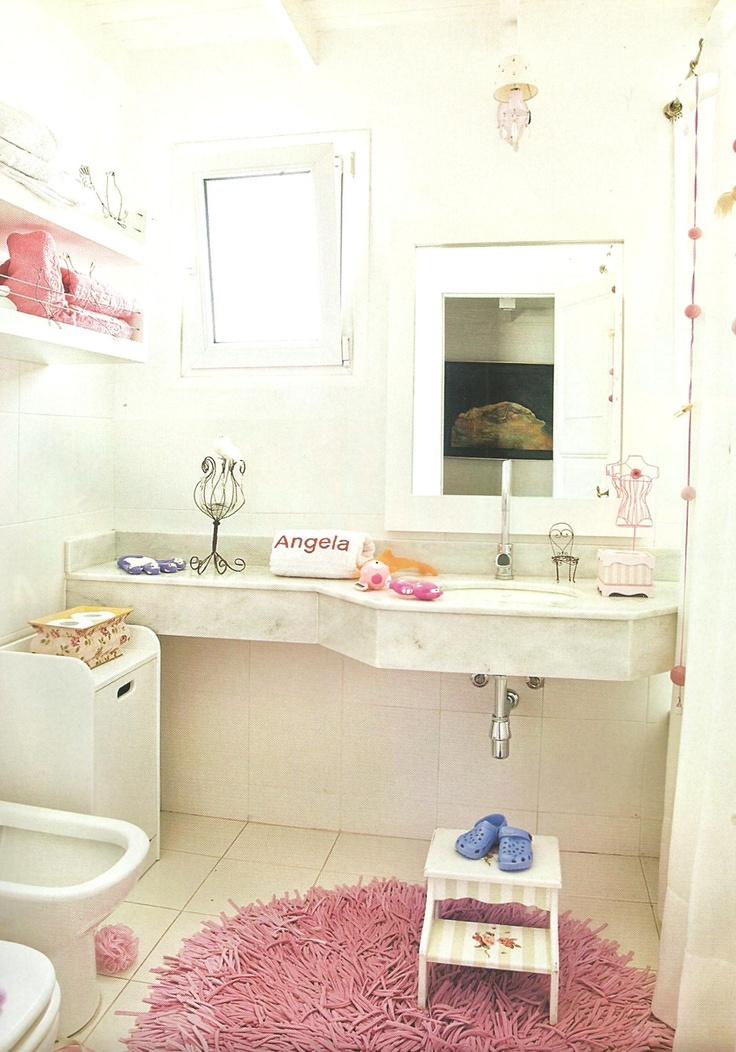 Decoracion Baño Ninas:Baño decorado para niñas
