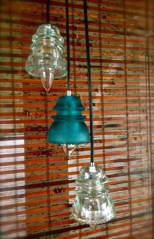 Glass Insulators Repurposed