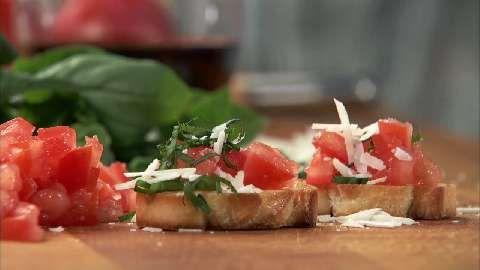Tomato Basil Crostini Allrecipes.com | food products | Pinterest