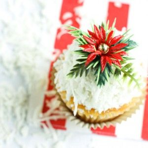 POINTSETTIA CUPCAKE TOPPERS | Holidays - Christmas | Pinterest