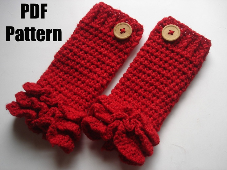 Crochet Patterns Pdf Free Download : INSTANT DOWNLOAD PDF Crochet pattern, crochet legwarmer pattern, Ruff ...