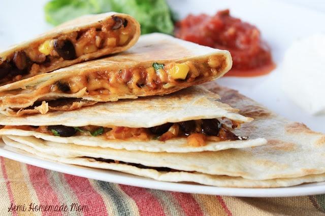 Stuffed Corn & Black Bean Quesadillas | Finger Lickin' Good: Main Mea...