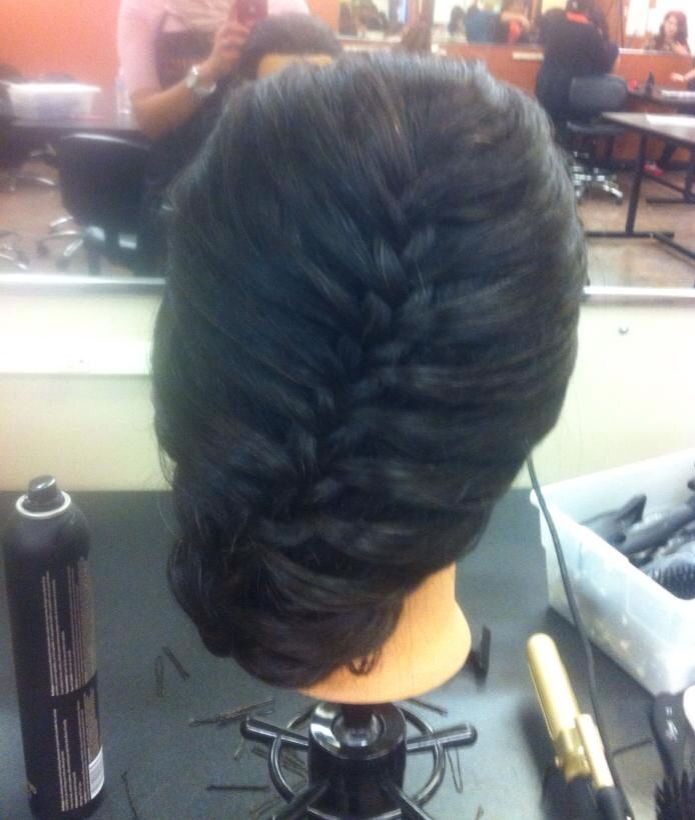 French braid cute hairstyle cosmetology school pinterest
