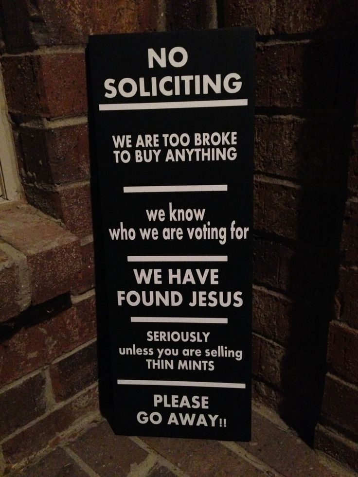 Funny no soliciting sign - Funny soliciting signs ...