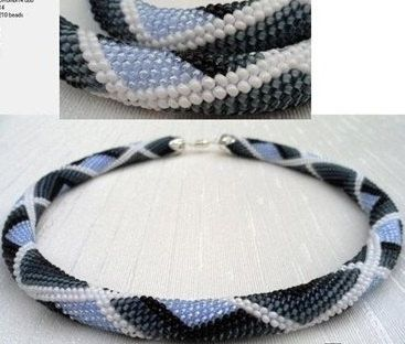 Crochet Beaded Bracelet - Blog a la Cart