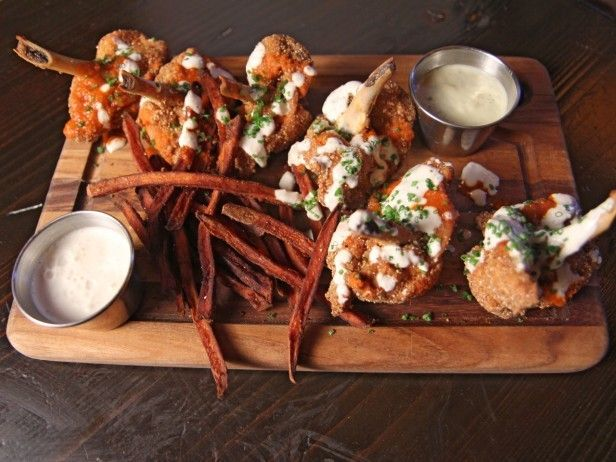 Buffalo Chicken Lollipop Wings with Buttermilk Blue Cheese Dip by ...