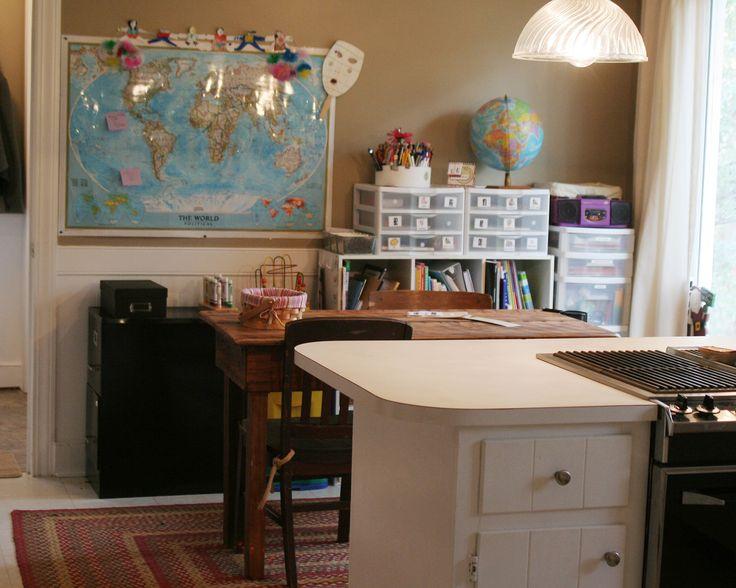 Homeschool room dining room home school pinterest for Homeschool dining room ideas