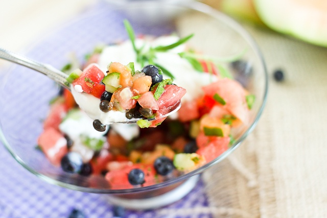 Watermelon Blueberry Salsa   by Sonia! The Healthy Foodie