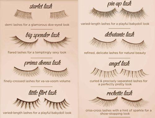 Fake lash types.
