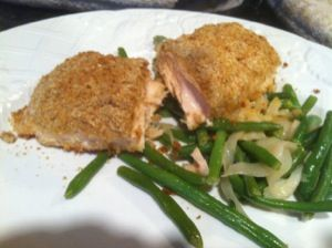 Honey-Mustard Salmon with Green Beans | Seafood from The Ranting Chef ...