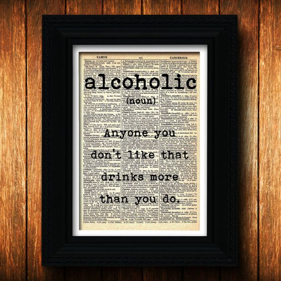 Bar decor witty alcoholic definition dictionary art for Decor meaning