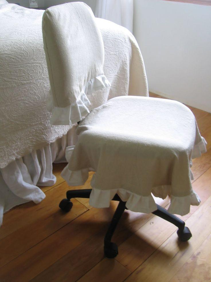 Как сшить чехол на компьютерный стул своими руками