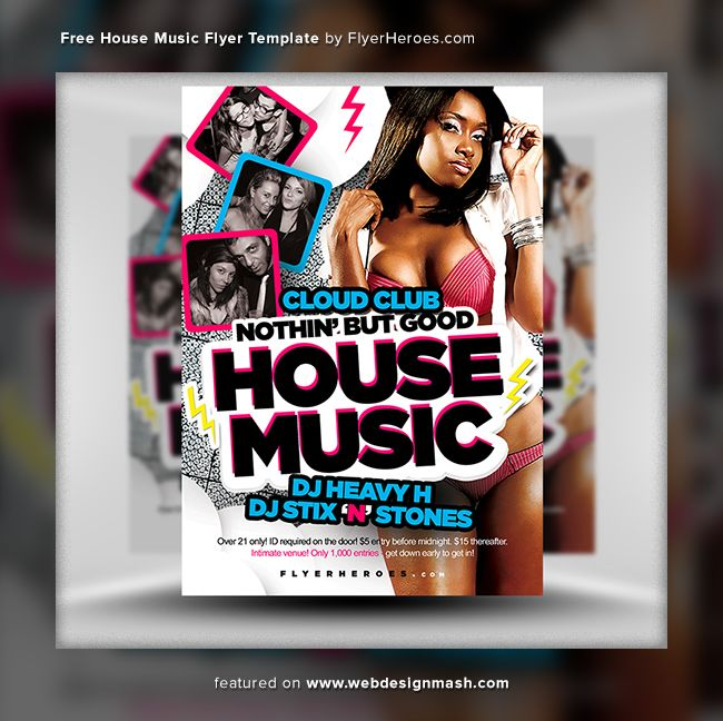 free club flyer templates - 20 new free club flyer templates advertising pinterest