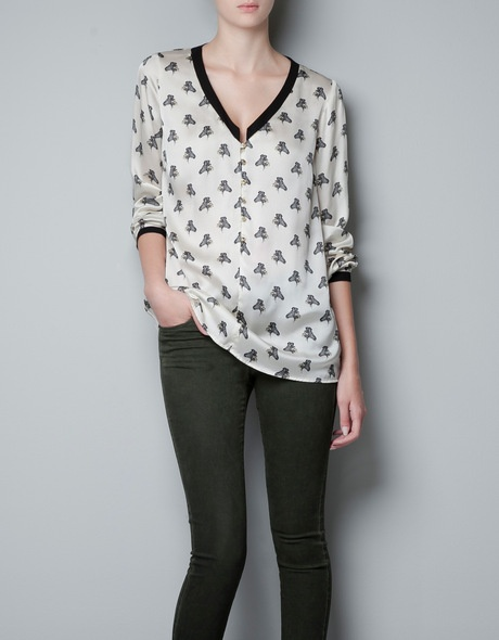 Zara Zebra Blouse 104