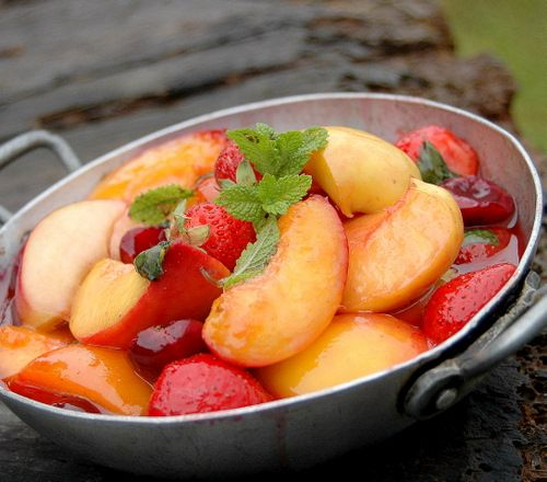 pan fried summer fruits from my french kitchen