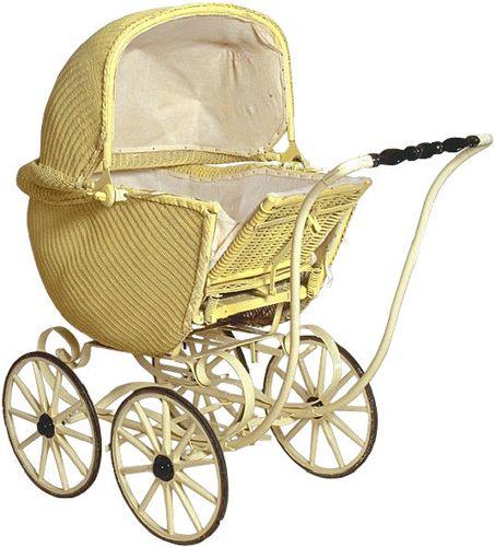 Antique baby stroller.