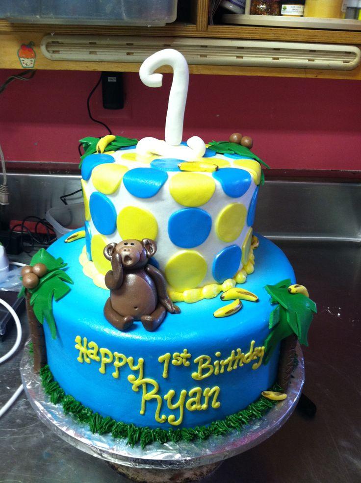 1st Birthday Monkey Cake Ideas 1424 Monkey First Birthday
