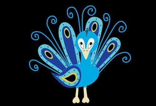 Cute Peacock Drawings Cute Peacock Cartoon Drawing