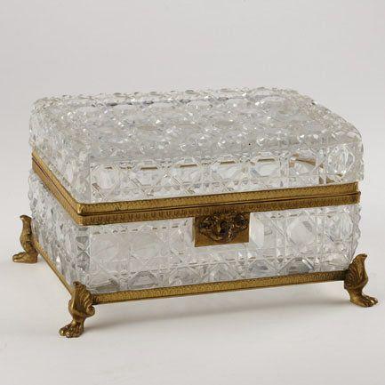 Большой хрусталь и позолота Box c.1890