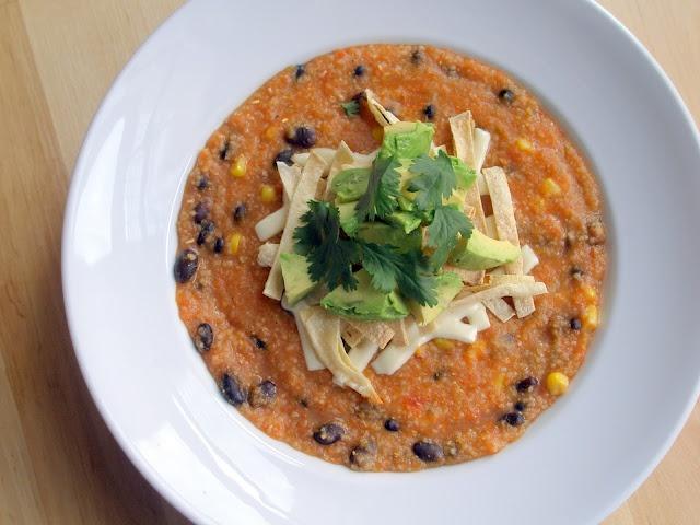 vegan tortilla soup | Vegan | Pinterest