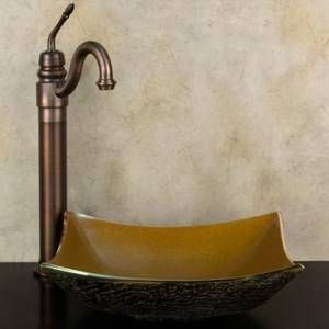 asian inspired vessel sinks ... Vessel Sinks: Buy a colorful glass ...
