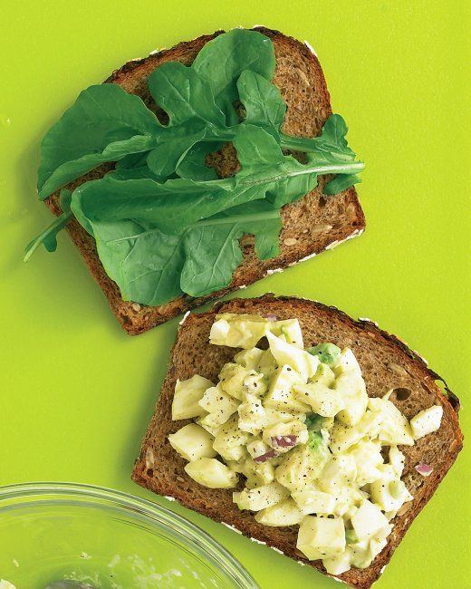 Egg Salad Sandwich This lightened-up egg salad skips the yolks in ...