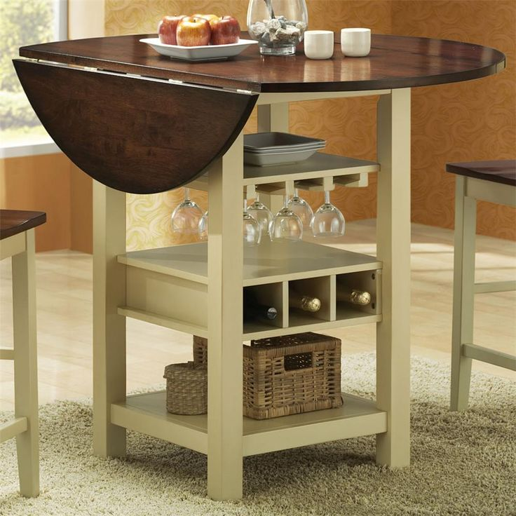 Countertop Height Round Table : countertop height table with drop leaf Welby Counter Height Round ...