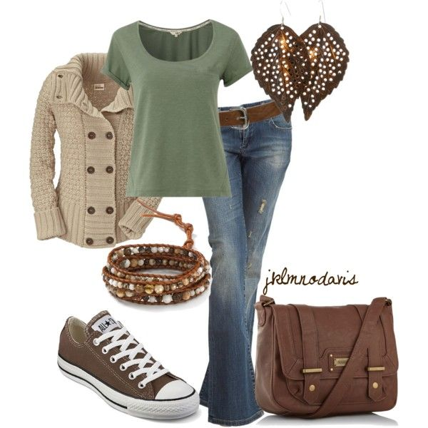 """'Warm Colors for Fall' by jklmnodavis on Polyvore"" All of it, please...especially the jewelry and the jeans!"