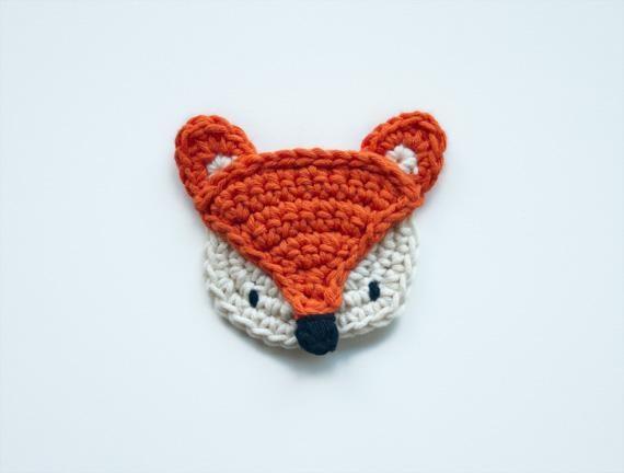 Fox Applique | crochet applique | Pinterest