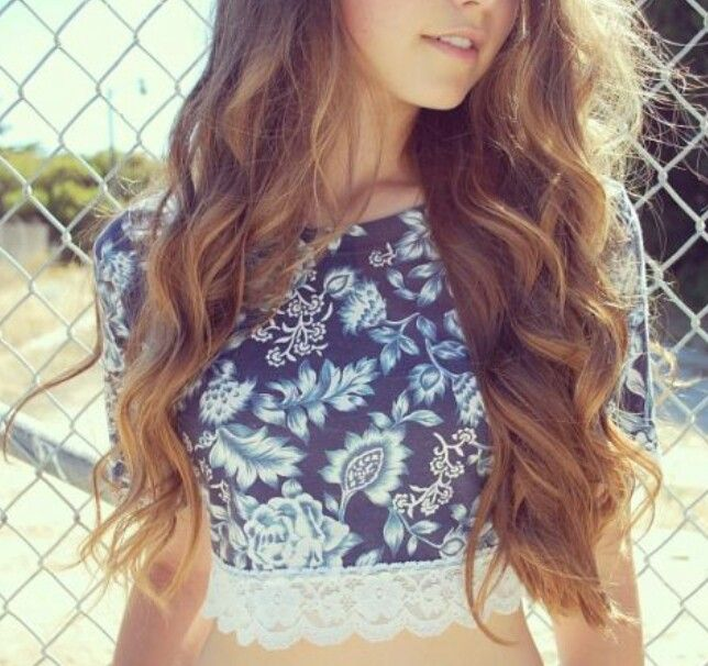 Wavy light brown hair