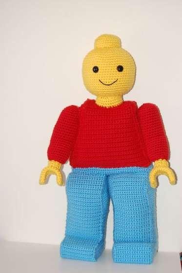Amigurumi Lego Man : Giant Lego Man Crochet - Blankets Pinterest