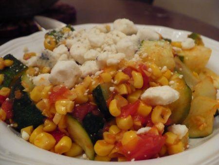 Zucchini & Corn Sauté - gluten free recipe